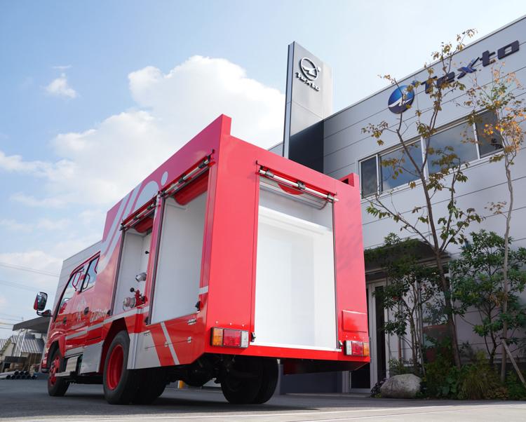 消防車車両用タンク・ボディイメージ